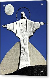Abstract Lutheran Cross 5 Acrylic Print by Bruce Iorio