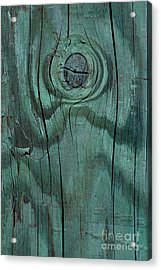 abstract marine wood photography - Green Knot Acrylic Print