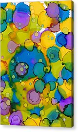 Abstract Microscope Party Acrylic Print by Nikki Marie Smith