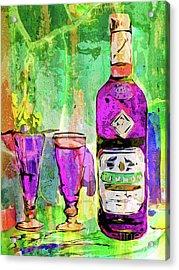 Abstract Modern Absinthe Pop Art Acrylic Print