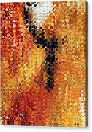 Abstract Modern Art - Pieces 8 - Sharon Cummings Acrylic Print by Sharon Cummings