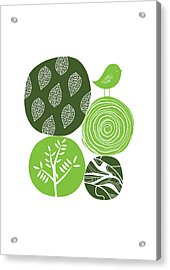 Abstract Nature Green Acrylic Print by BONB Creative