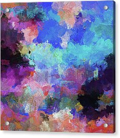 Abstract Nature Painting Acrylic Print by Ayse Deniz