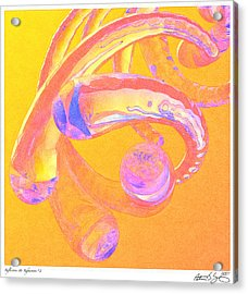 Acrylic Print featuring the painting Abstract Number 2 by Peter J Sucy