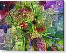 Acrylic Print featuring the digital art Abstract Of Color by Deborah Benoit