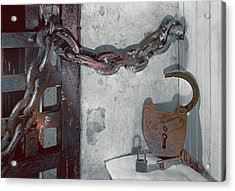 Acrylic Print featuring the photograph Grunge Old Padlock by Robert G Kernodle