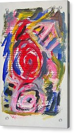 Abstract On Paper No. 24 Acrylic Print by Michael Henderson