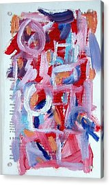 Abstract On Paper No. 30 Acrylic Print by Michael Henderson