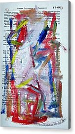 Abstract On Paper No. 35 Acrylic Print by Michael Henderson