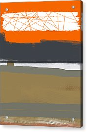 Abstract Orange 1 Acrylic Print by Naxart Studio