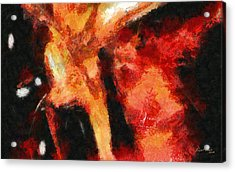 Abstract Orange Red Acrylic Print by Russ Harris