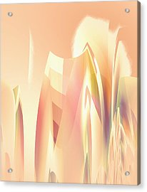 Acrylic Print featuring the digital art Abstract Orange Yellow by Robert G Kernodle