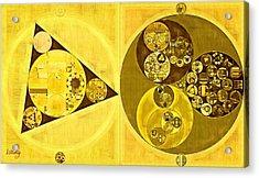 Abstract Painting - Banana Yellow Acrylic Print by Vitaliy Gladkiy