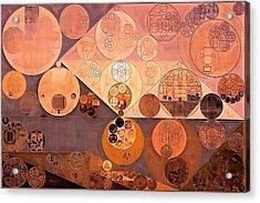 Abstract Painting - Bordeaux Acrylic Print by Vitaliy Gladkiy