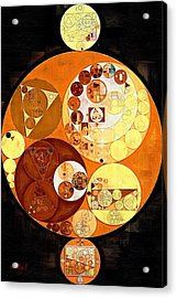 Abstract Painting - Burnt Orange Acrylic Print