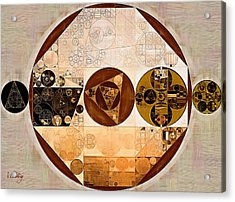 Abstract Painting - Caput Mortuum Acrylic Print