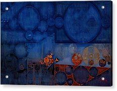 Abstract Painting - Cool Black Acrylic Print