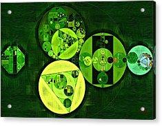 Abstract Painting - Dark Green Acrylic Print by Vitaliy Gladkiy