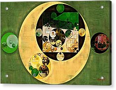 Abstract Painting - Dark Olive Green Acrylic Print by Vitaliy Gladkiy