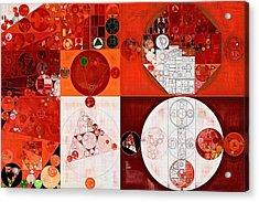 Abstract Painting - Dark Pastel Red Acrylic Print by Vitaliy Gladkiy