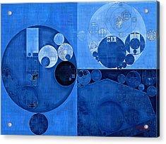 Abstract Painting - Denim Acrylic Print by Vitaliy Gladkiy
