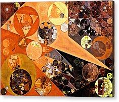 Abstract Painting - Fiery Orange Acrylic Print