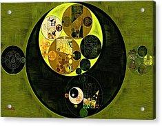 Abstract Painting - Fiji Green Acrylic Print by Vitaliy Gladkiy