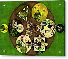 Abstract Painting - Green Leaf Acrylic Print by Vitaliy Gladkiy