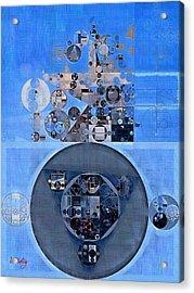 Abstract Painting - Gulf Blue Acrylic Print by Vitaliy Gladkiy