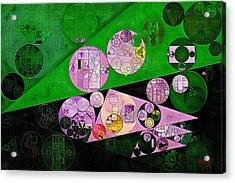 Abstract Painting - India Green Acrylic Print by Vitaliy Gladkiy
