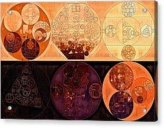 Abstract Painting - Macaroni And Cheese Acrylic Print by Vitaliy Gladkiy
