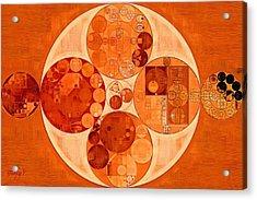 Abstract Painting - Mahogany Acrylic Print by Vitaliy Gladkiy