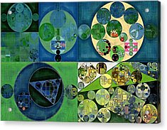 Abstract Painting - Medium Jungle Green Acrylic Print