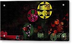 Abstract Painting - Metallic Gold Acrylic Print by Vitaliy Gladkiy