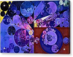 Abstract Painting - Midnight Blue Acrylic Print