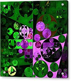 Abstract Painting - Mineral Green Acrylic Print by Vitaliy Gladkiy