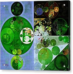 Abstract Painting - Phthalo Green Acrylic Print
