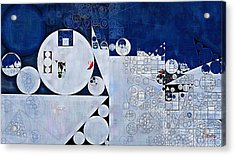 Abstract Painting - Spindle Acrylic Print by Vitaliy Gladkiy