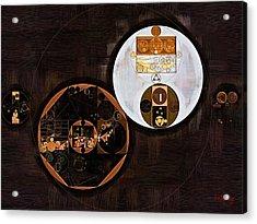 Abstract Painting - Swiss Coffee Acrylic Print by Vitaliy Gladkiy