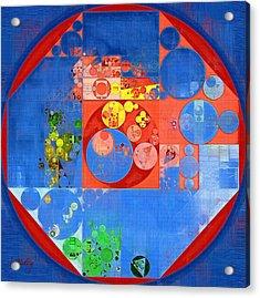 Abstract Painting - United Nations Blue Acrylic Print by Vitaliy Gladkiy