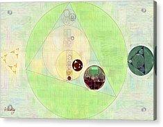 Abstract Painting - Willow Brook Acrylic Print by Vitaliy Gladkiy