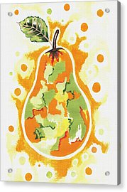 Acrylic Print featuring the painting Abstract Pear by Kathleen Sartoris