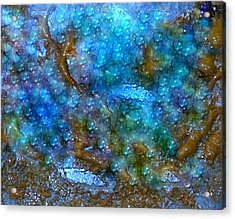 Acrylic Print featuring the painting Abstract-pearls Of The Sea by Sherri  Of Palm Springs