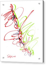 Abstract Pen Drawing Seventy Acrylic Print by Lynne Taetzsch