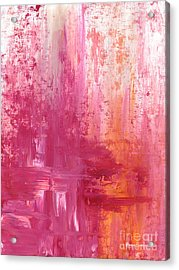 Abstract Pink And Orange Original Painting And Prints The Fire Within By Megan Duncanson Acrylic Print