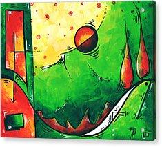 Abstract Pop Art Original Painting Acrylic Print by Megan Duncanson