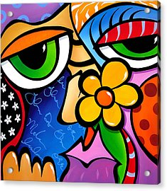Abstract Pop Art Original Painting Scratch N Sniff By Fidostudio Acrylic Print