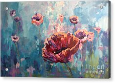 Abstract Poppy Acrylic Print