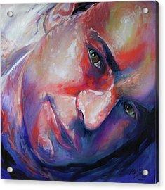 Abstract Portrait Acrylic Print by Marcia Baldwin