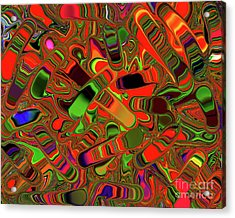 Abstract Rainbow Slider Explosion Acrylic Print by Andee Design